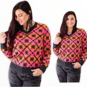 Crazy Train NWT Aztec Sweater Boutique